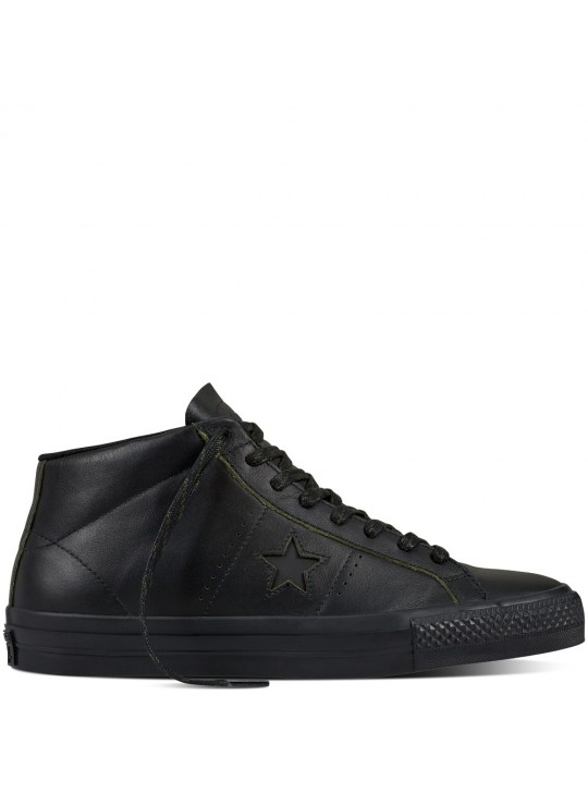 Converse Cons Mid One Star Pro Rub-Off Leather Black