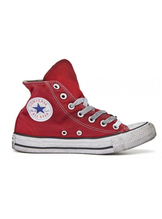 Converse All Star High Limited Red Distressed