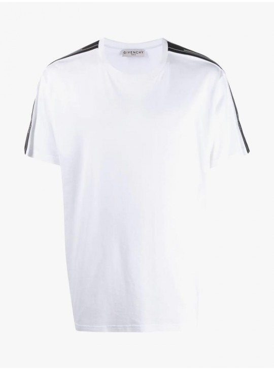 Givenchy Mens Contrasted T Shirt White
