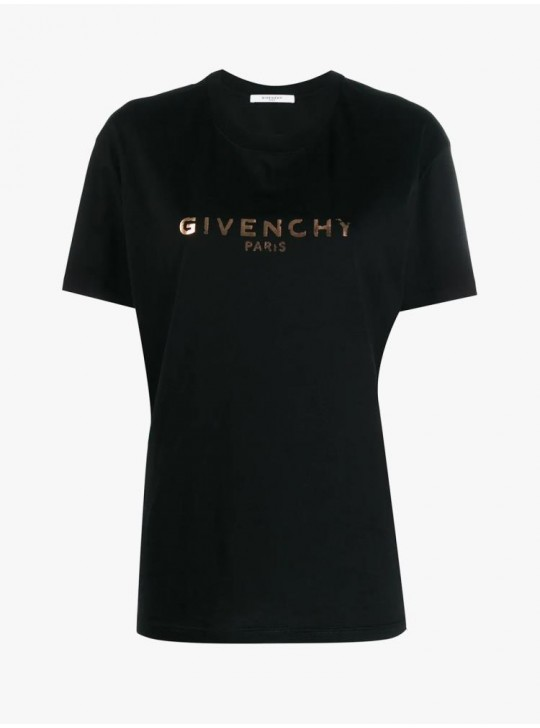 Givenchy Womens Vintage Paris Masculine Fit T Shirt Black