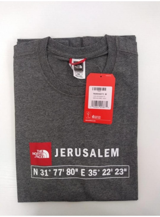 The North Face T-shirt Grey Heat Jerusalem