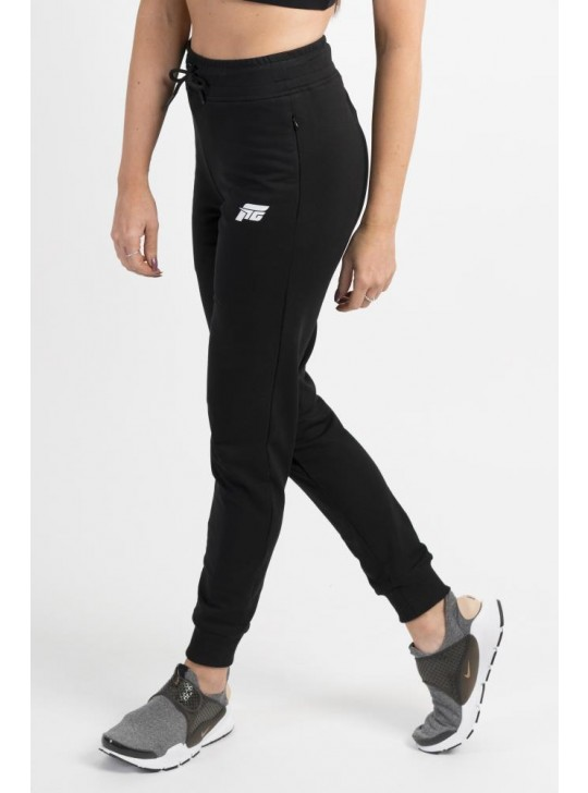 Feed The Gains FTG Women's High Waisted Joggers - Black