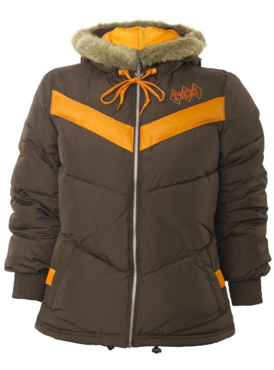 adidas Women's Brown Originals Petite Winter Jacket