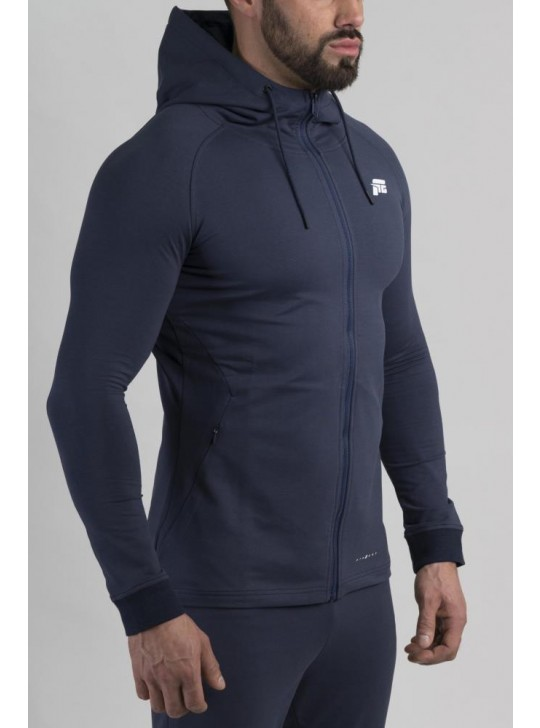 Feed The Gains FTG Men's Fitted Hoody - Navy