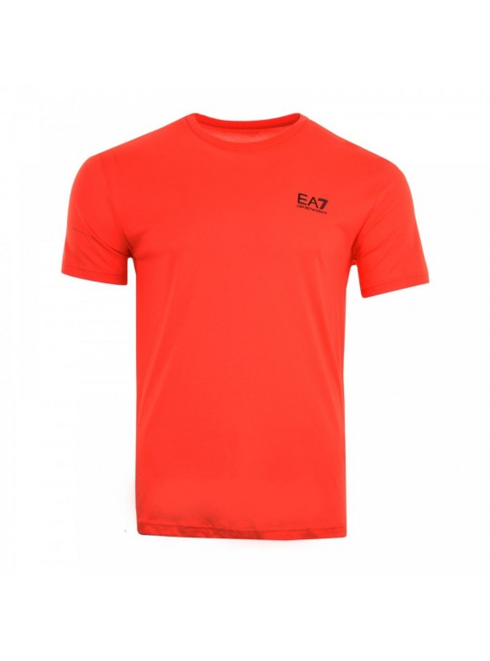 Armani Men's EA7 Small Logo Orange Short Sleeve T-Shirt
