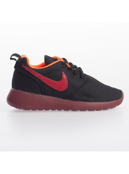 Nike Junior's Black Roshe Run  Print Trainers