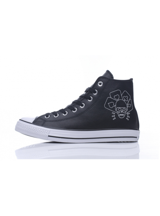 Converse Chuck Taylor All Star Clash Collection Black Leather High Tops