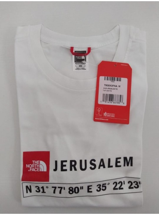 The North Face T-shirt White Jerusalem