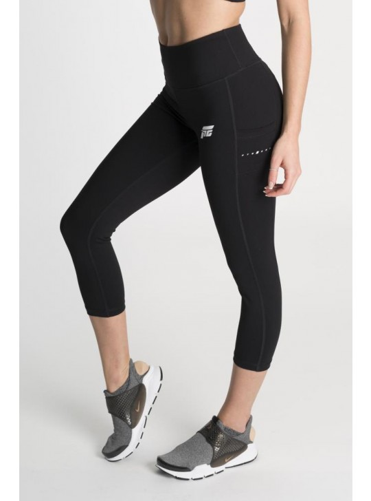 Feed The Gains FTG Women's Figure Capri Leggings - Black