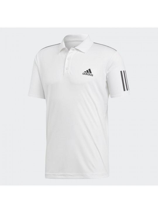 Adidas Originals Men's 3-Stipe Club White Short Sleeve Polo