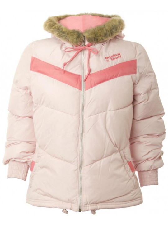 adidas Women's Pink Originals Petite Winter Jacket