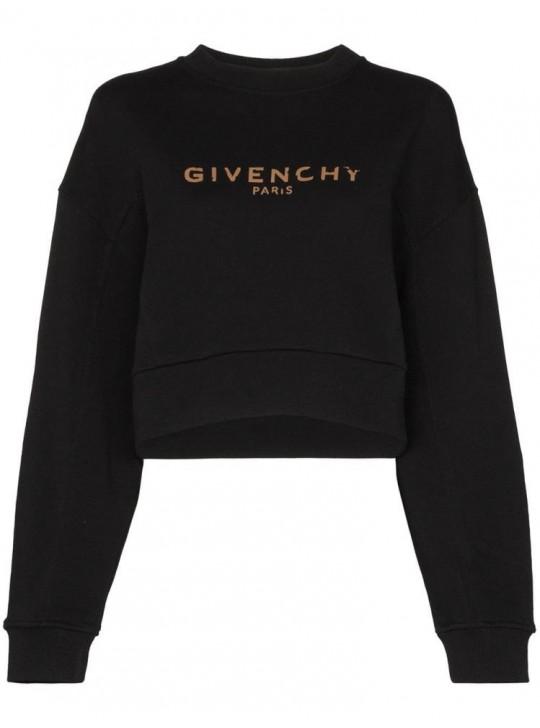 Givenchy Cropped Oversized Sweatshirt