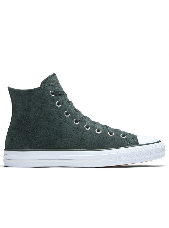 Converse Chuck Taylor Pro Perforated Suede Hi Vintage Green