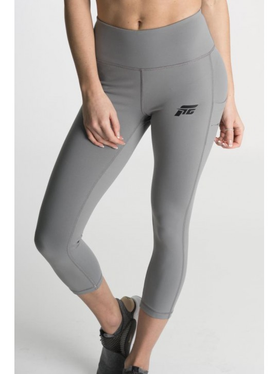 Feed The Gains FTG Women's Figure Capri Leggings - Grey