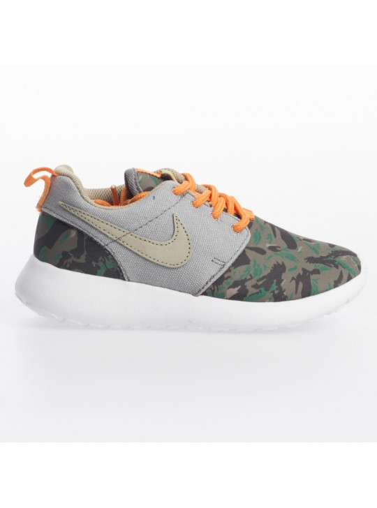 Nike Junior's Grey Roshe Run  Print Trainers