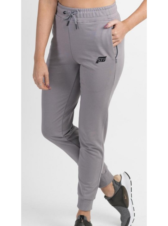Feed The Gains FTG Women's High Waisted Joggers - Grey