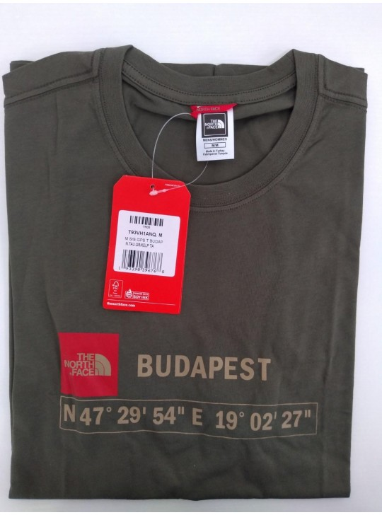 The North Face T-shirt Taupe Green Budapest