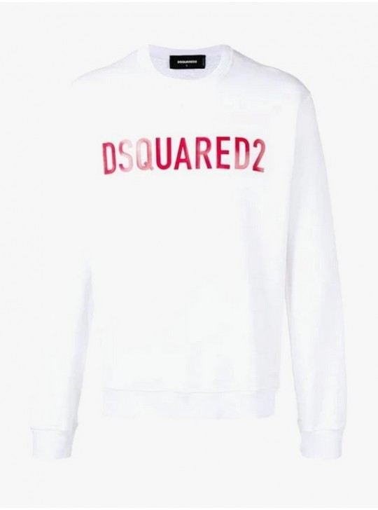 Dsquared2 White Logo Jumper