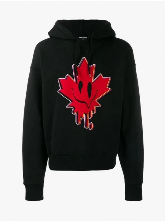 Dsquared2 Superior Red Leaf Sweatshirt